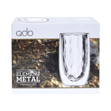 SET GELAS ELEMENT METAL 350 ML 2 PCS_2