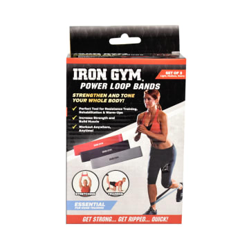 IRON GYM POWER LOOP BANDS - HITAM_1