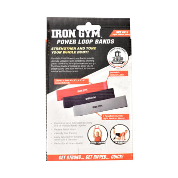 IRON GYM POWER LOOP BANDS - HITAM_3