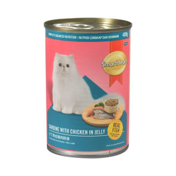 SMARTHEART MAKANAN KUCING SARDINE CHIC WITH JELLY 400 GR_1