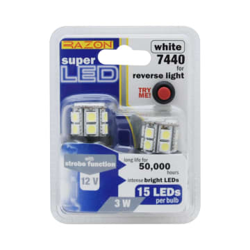 RAZON SET LAMPU MUNDUR LED MOBIL HONDA 15 LED 2 PCS - PUTIH_1