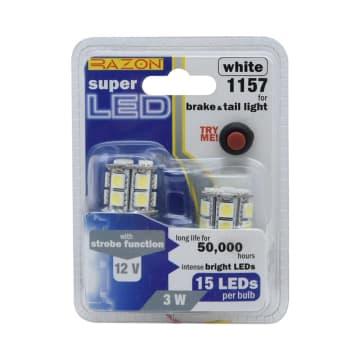 RAZON SET LAMPU REM/TAIL LIGHT LED MOBIL 15 LED 2 PCS 1157 - PUTIH_1