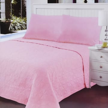 BED COVER CLOVER PINK 210X210 CM_1