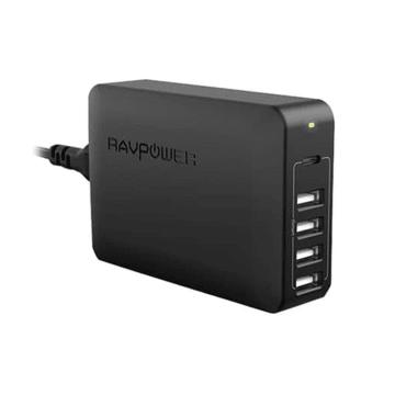 RAVPOWER CHARGER 60W 5 PORT USB EU RP PC059_1