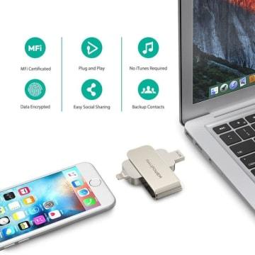 RAVPOWER 2 IN 1 SD CARD READER IPHONE LIGHTNING 64GB RP IM004_4