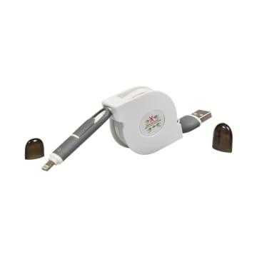 MOZTEC KABEL DATA 2 IN 1 LIGHTNING + MICRO USB - PUTIH_1