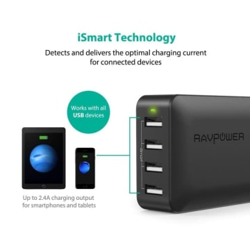 RAVPOWER CHARGER 4 PORT 40W RP PC023_3
