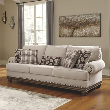 ASHLEY HARLESON SOFA 3 DUDUKAN - KREM_2