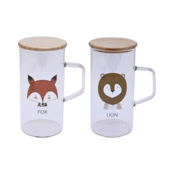 APPETITE SET GELAS LION & FOX 2 PCS_1