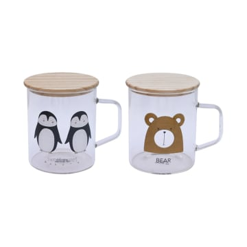 APPETITE SET GELAS PENGUIN & BEAR 2 PCS_1