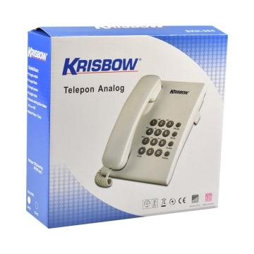 KRISBOW TELEPON BASIC SKH-304 - PUTIH_3