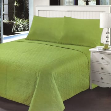LINOTELA BED COVER TWISTY 210X210 CM - HIJAU_1
