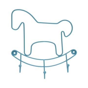 GANTUNGAN DINDING HORSE DENGAN 3 PENGAIT - BIRU_1