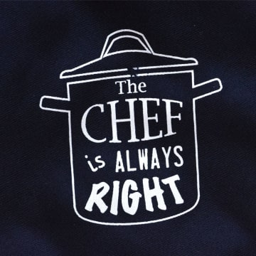 SET CELEMEK DAPUR CHEF IS ALWAYS RIGHT - BIRU_3