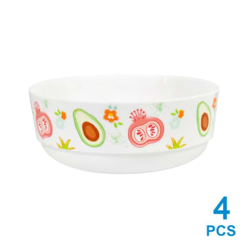 KRISHOME MANGKUK PLASTIK FRUIT COLOR 480 ML 4 PCS_1