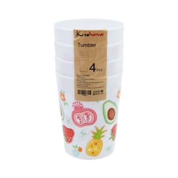 KRISHOME SET GELAS PLASTIK FRUIT COLOR 500 ML 4 PCS_2