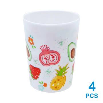 KRISHOME SET GELAS PLASTIK FRUIT COLOR 500 ML 4 PCS_1