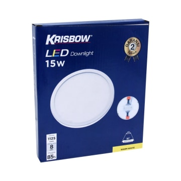 KRISBOW LAMPU DOWNLIGHT LED ROUND 15W 3000K_2