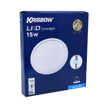 KRISBOW LAMPU DOWNLIGHT LED ROUND 15W 6500K_2