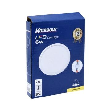 KRISBOW LAMPU DOWNLIGHT LED ROUND 6W 3000K_2