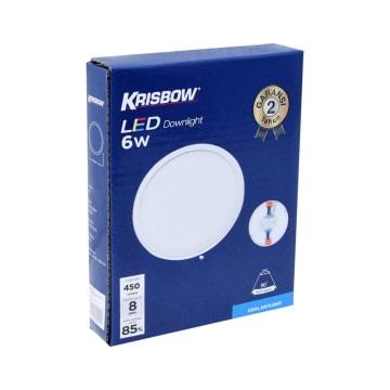 KRISBOW LAMPU DOWNLIGHT LED ROUND 6W 6500K_2