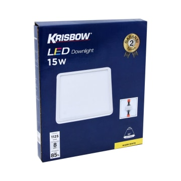 KRISBOW LAMPU DOWNLIGHT LED SQUARE 15W 3000K_2
