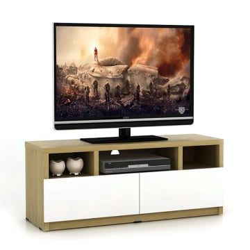 RICOLA RAK TV - COKELAT / PUTIH_1