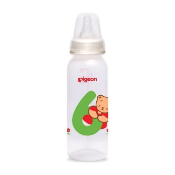 PIGEON BOTOL SUSU ANGKA 6 SILICONE NIPPLE 240 ML_1