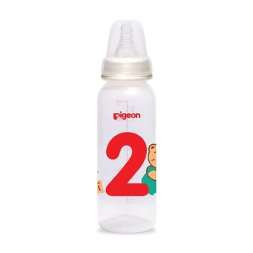 PIGEON BOTOL SUSU ANGKA 2 SILICONE NIPPLE 240 ML_2