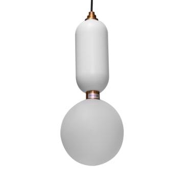 KORIN LAMPU GANTUNG HIAS 15X15X36 CM - PUTIH_1