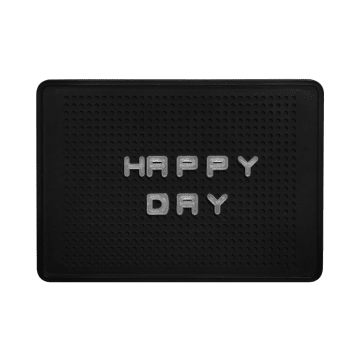 HIASAN DINDING BOX RETRO HAPPY DAY - HITAM_2