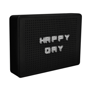 HIASAN DINDING BOX RETRO HAPPY DAY - HITAM_1