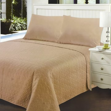 BED COVER TWISTY 210X210 CM - TAUPE_1