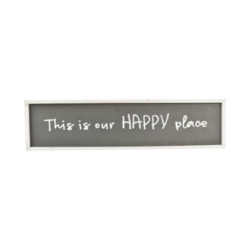 HIASAN DINDING PLAKAT HAPPY PLACE_1