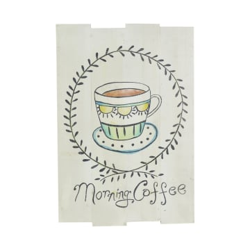 HIASAN DINDING PLAKAT MORNING COFFEE 36 X 3 X 53CM_1
