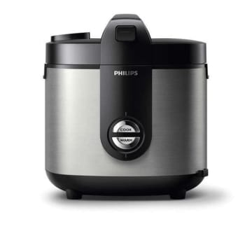 PHILIPS RICE COOKER STAINLESS PRO CERAMIC + HD3132 - HITAM_1