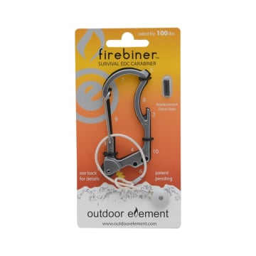 FIREBINER KARABINER FLINT - SILVER_1