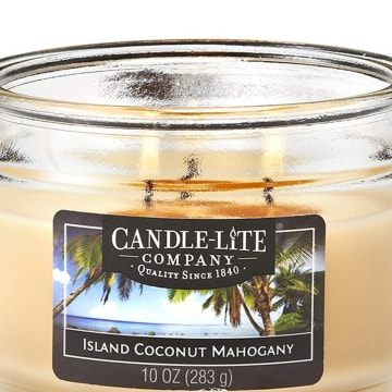 CANDLE LITE CANDLE ISLAND COCONUT MAHOGANY LIIN AROMATERAPI 283 GR_2