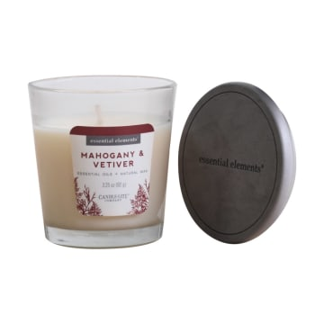 CANDLE LITE MAHOGANY AND VETIVER LILIN AROMATERAPI 92 GR_2