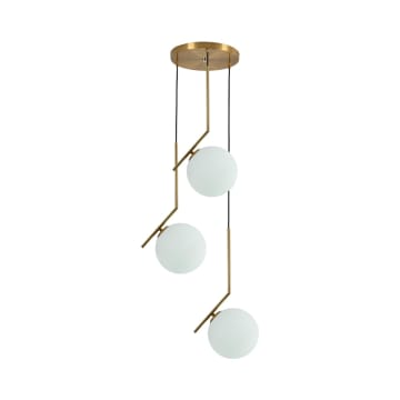 EGLARE BOULE LAMPU GANTUNG HIAS 3L - ANTIQ BRASS_1