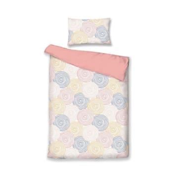 BED COVER MICROFIBER ANE 210X210 CM - PINK_1