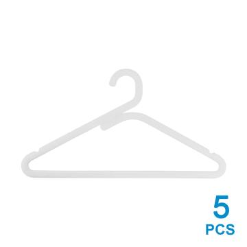 SET HANGER PLASTIK SIMPLE 5 PCS - PUTIH_1