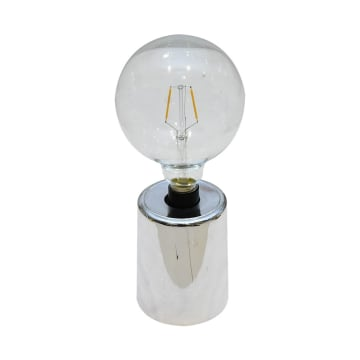 FLORRY LAMPU MEJA 10X28.5 CM - SILVER_1