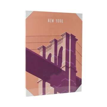 HIASAN DINDING KANVAS NEW YORK BRIDGE 45X60X1.8 CM_2