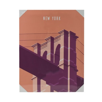 HIASAN DINDING KANVAS NEW YORK BRIDGE 45X60X1.8 CM_1