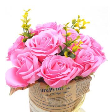 ARTHOME BUNGA ARTIFISIAL ROSE 25CM - PINK_2