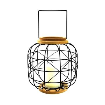 LAMPU MEJA WIRE BS 24X24X24CM - HITAM_2