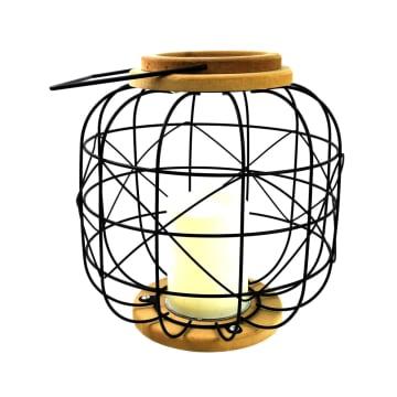LAMPU MEJA WIRE BS 24X24X24CM - HITAM_1