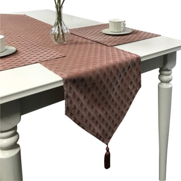 TABLE RUNNER LATTICE TERRA 33X180 CM_1