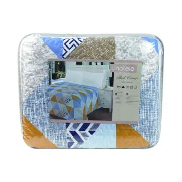 LINOTELA BED COVER NT753 240X210 CM - BIRU_3